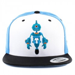 Bon� True Heart Snapback Robot Heart Blue/ White/ Black