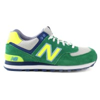 T�nis New Balance ML574YCK Green/Limon