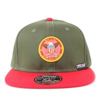 Bon� Official Snapback Skate Merit Badge Green/Red