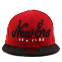 Bon� New Era 59FIFTY New Era Script New York Red/Black