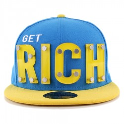 Bon� New Era 59FIFTY Get Rich Blue/Yellow