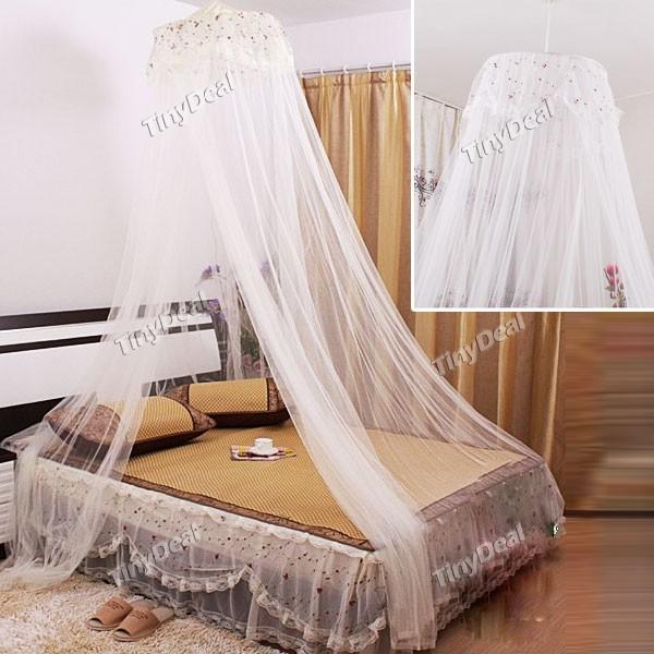 Mosquito rodada elegante dome nets mosquito cortina de - Cortinas para cama ...