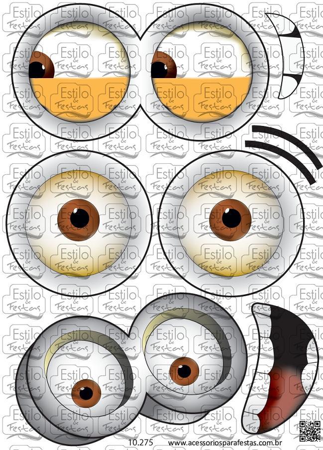 Adesivo Para Geladeira Kombi ~ Adesivo olhos dos minions Adesivo de bal u00e3o olhos e bocas dos minnions meu malvado favorito