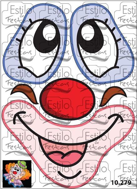 Artesanato Hippie Loja ~ Adesivo cara de palhaço lilás para balões Adesivos para balões exclusivo da Estilo e festas