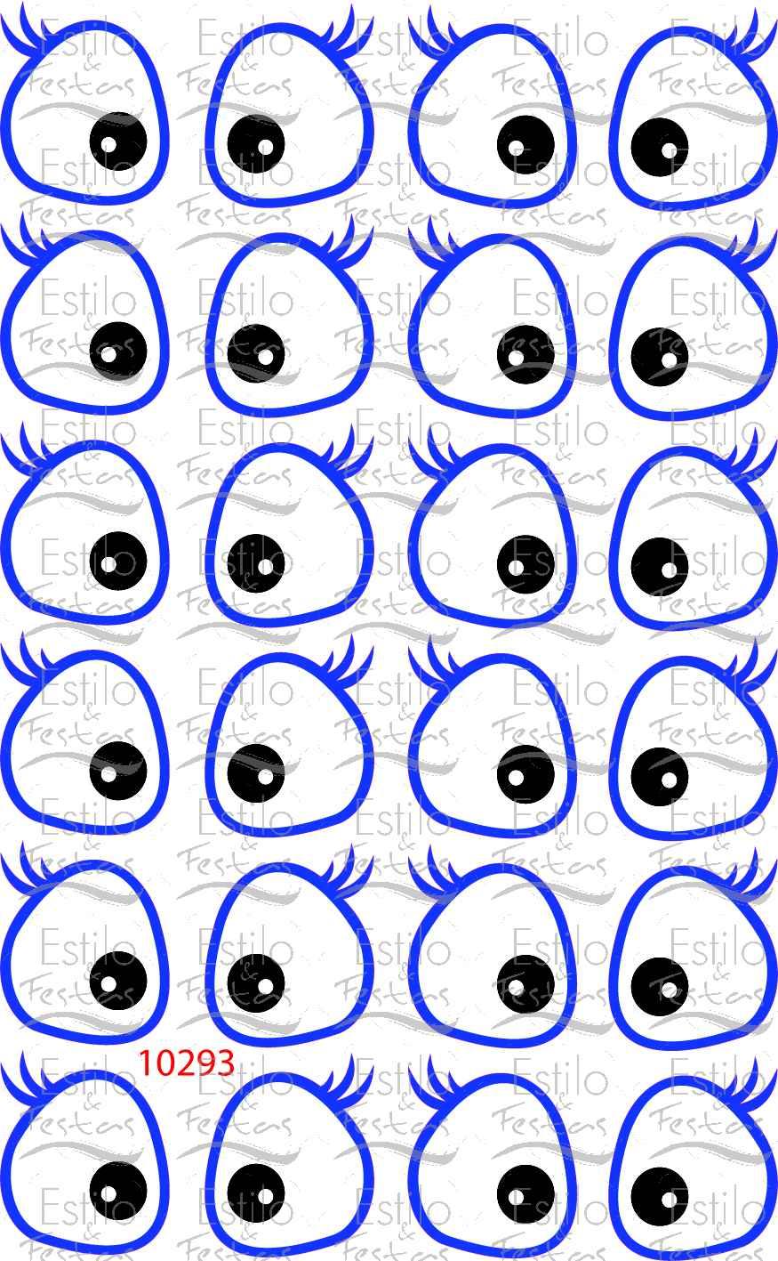 Como Fala Aparador Em Ingles ~ Adesivo para bal u00e3o Cartela com Olhos da Galinha Pintadinha Acessorios para Festas