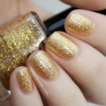Honey Bear - Gold Holo Glitter Topper