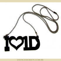 Colar I Love One Direction