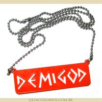 Colar Percy Jackson - Demigod / Her�is do Olimpo