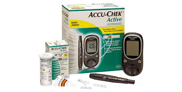 ACCU - CHEK ACTIVE APARELHO KIT
