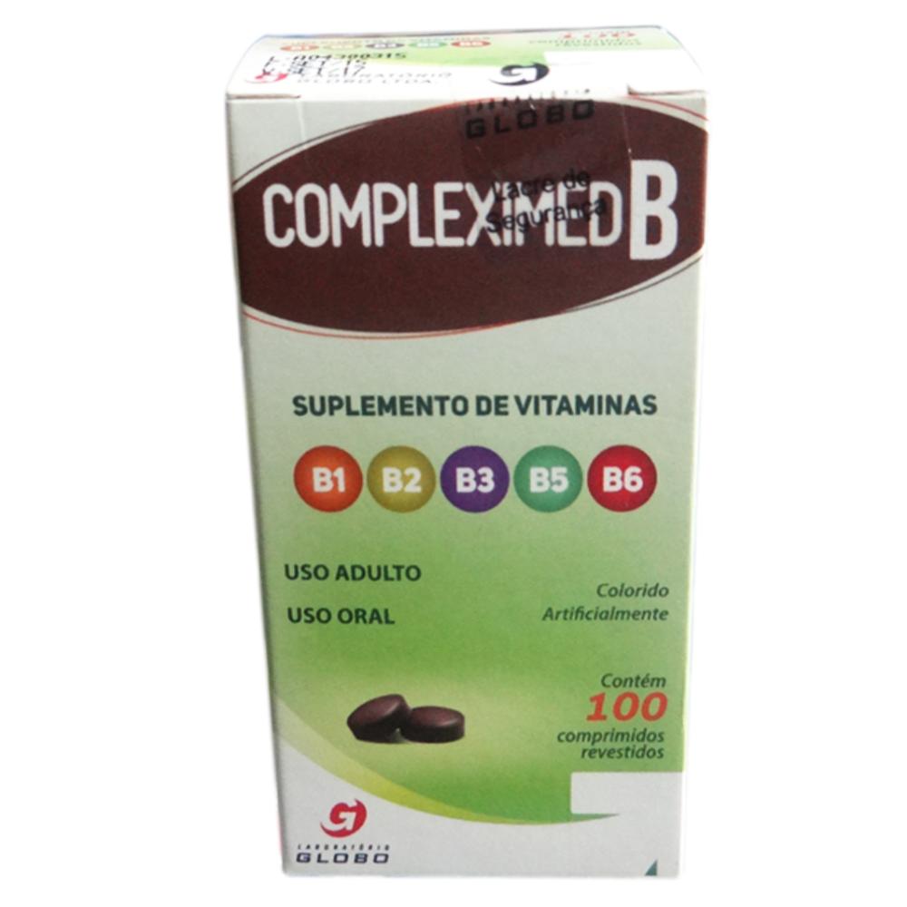 COMPLEXO B - COMPLEXIMED B - 100 COMPRIMIDOS