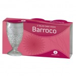 CONJUNTO COM 3 TA�AS DE VIDRO BARROCO