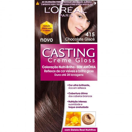 Tonalizante Casting L�Or�al Paris Creme Gloss Chocolate Glac� 415