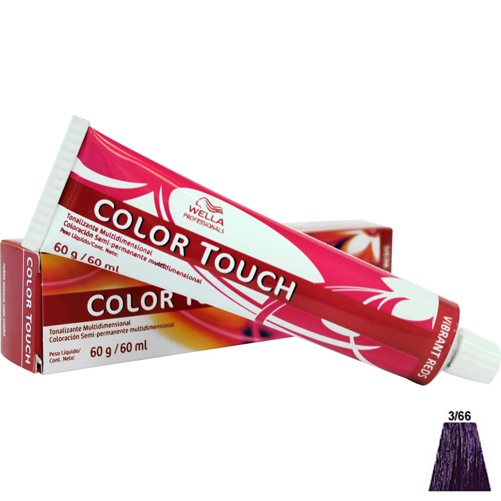 Wella Color Touch Vibrant Red 60ml 3 66 Dark Intensive Violet Brown