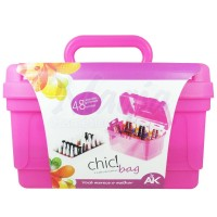 Maleta Pl�stica AK Chic Bag 754 - Rosa