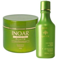Kit M�scara Inoar Argan Oil + �leo de Tratamento Argan Oil