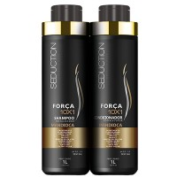 Kit Seduction For�a 10x1 Mandioca Shampoo + Condicionador - 1L