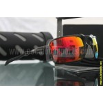 Badman Dark Carbon / Ruby Iridium Polarized