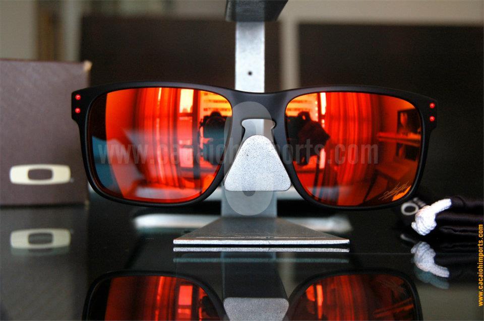 Oakley Ducati Holbrook Sonnenbrille Matte Black Ruby Iridium ...