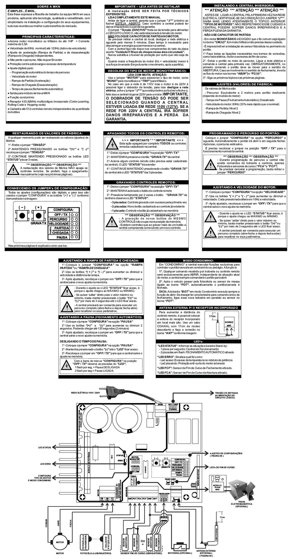 Manual central de alarme ecp alard max rf output system