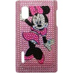 Capa para LG Optimus L5 Minnie Rosa Strass
