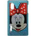 Capa para LG Optimus L5 Minnie Azul Strass