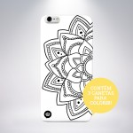 Capa para Colorir Mandala Secreta iPhone 5/5S/5c/6/6 Plus/Galaxy S5
