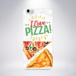 Capa Personalizada I Love Pizza para iPhone 5/5S/5c/6/6 Plus e Galaxy S5