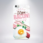 Capa Personalizada I Love Bacon para iPhone 5/5S/5c/6/6 Plus e Galaxy S5