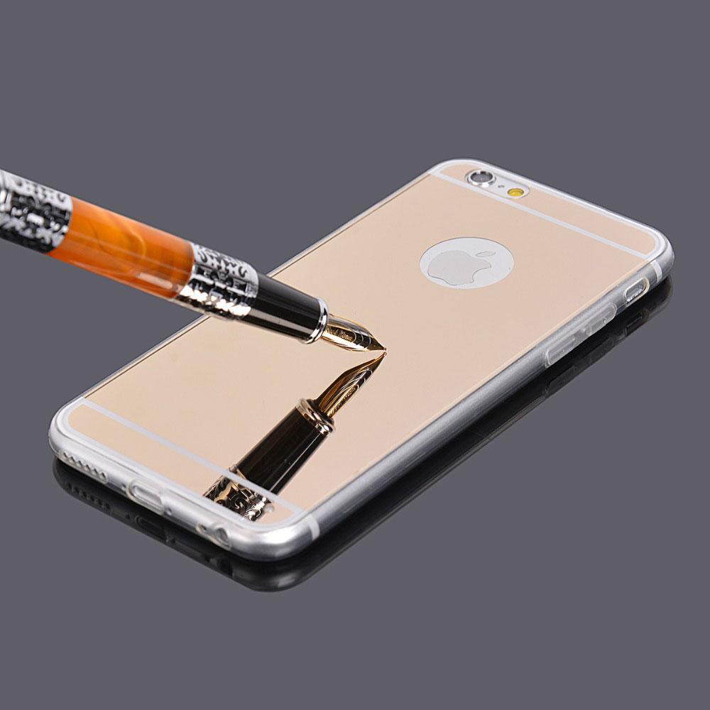 Capa de Silicone Ultrafina Espelhada para iPhone 4/4S/5/5S/6/6 Plus