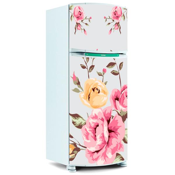 Telefone Loja Artesanato Barros ~ Adesivo de Geladeira Inteira Floral 12 Fran Adesivos