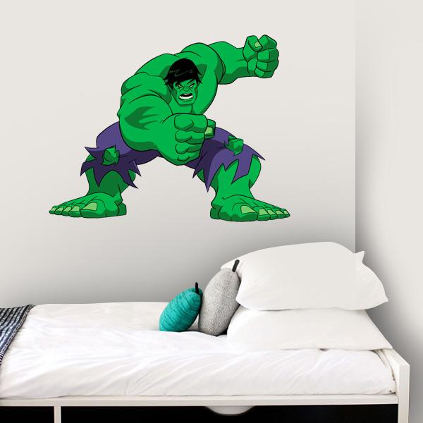 Adesivo De Quarto Infantil ~ Adesivo de Parede Infantil O Incrível Hulk Fran Adesivos