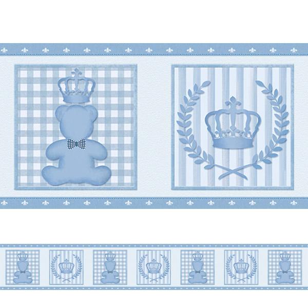 Armario De Cozinha Em Ingles ~ Adesivo decorativo Faixa Ursinho Principe Fran Adesivos