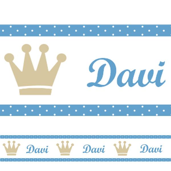 Aparador Rustico Para Banheiro ~ Adesivo decorativo faixa Príncipe com nome Fran Adesivos