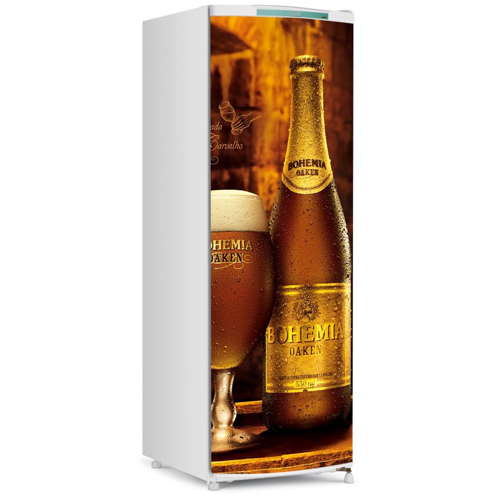 Adesivo de Geladeira Inteira Cerveja Bohemia Fran Adesivos