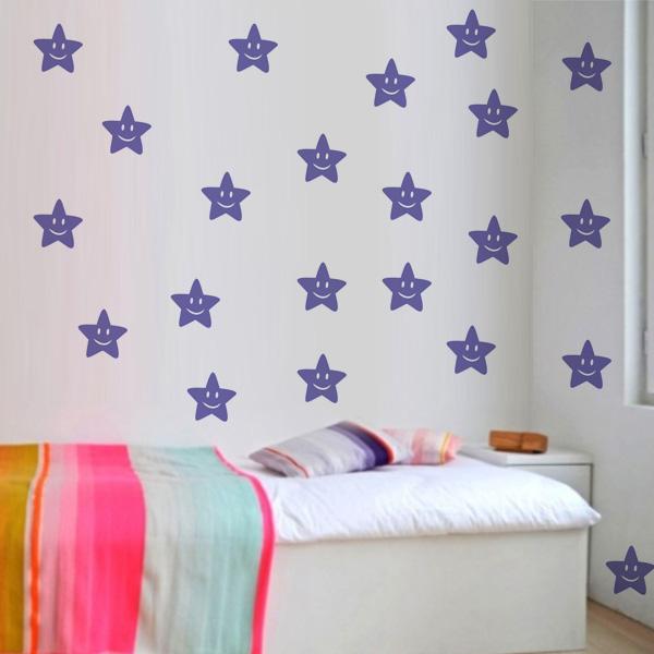 Armario De Cozinha Casas Bahia Pequeno ~ Adesivo de parede Infantil Estrelas Fran Adesivos