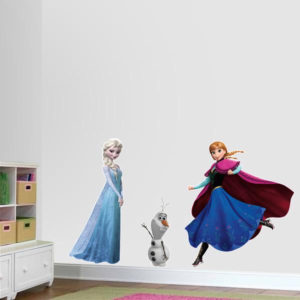 Adesivo Para Furo De Orelha ~ Adesivo de parede infantil Frozen Fran Adesivos Fran