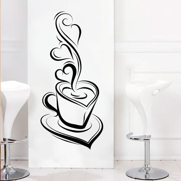 Aparador Azul Tifany ~ Adesivo de parede para Cozinha Xícara de Café 1 Fran Adesivos Fran Adesivos
