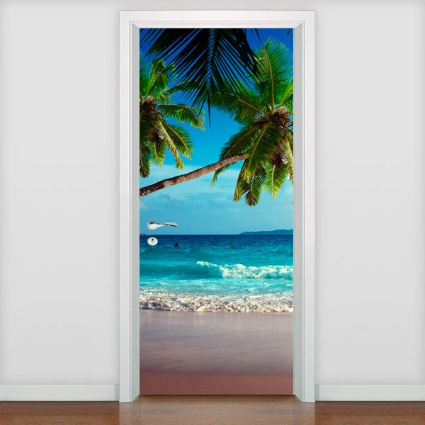 adesivo de porta adesivo de porta praia 4