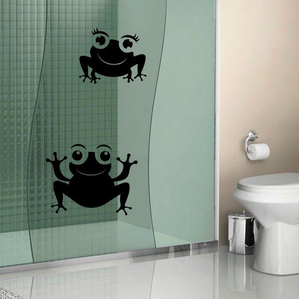 Armario Pequeno Para Banheiro ~ Adesivo para Box de Banheiro Sapo Sapinhos Fran Adesivos