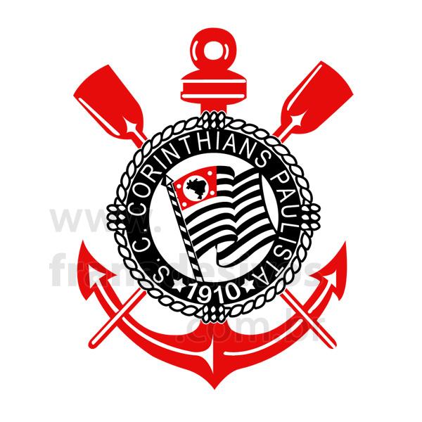 Adesivo de Parede Futebol Escudo do Corinthians Fran Adesivos Fran Adesivos