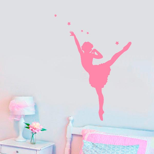 Adesivo Estrela Kalunga ~ Adesivo de Parede Bailarina Rosa Mod 3 Fran Adesivos