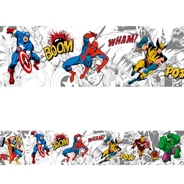 Artesanato Junino Em Feltro ~ Adesivo decorativo faixa Super herois 2