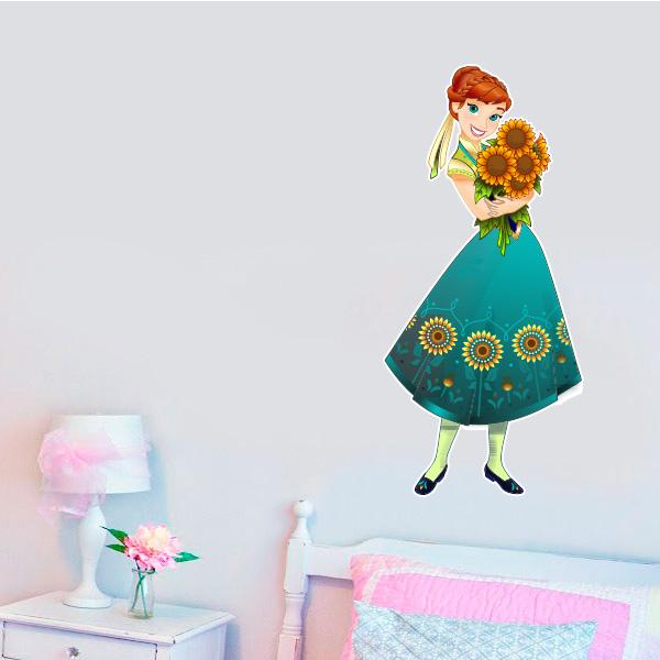 Aparador Walmart ~ Adesivo de parede Infantil Frozen Anna
