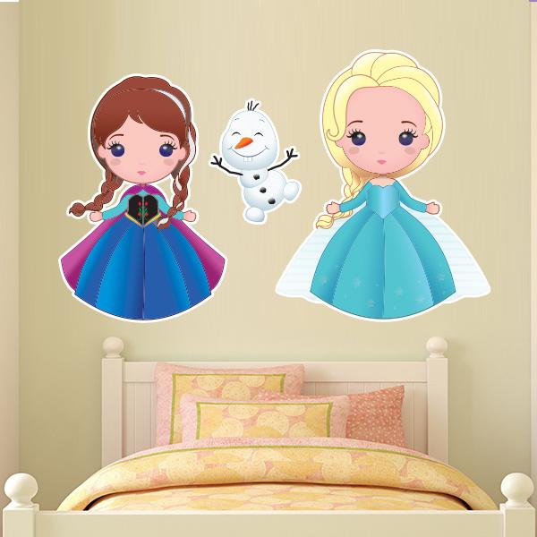 Aparador Walmart ~ Adesivo de parede Infantil Frozen Anna Elsa e Olaf