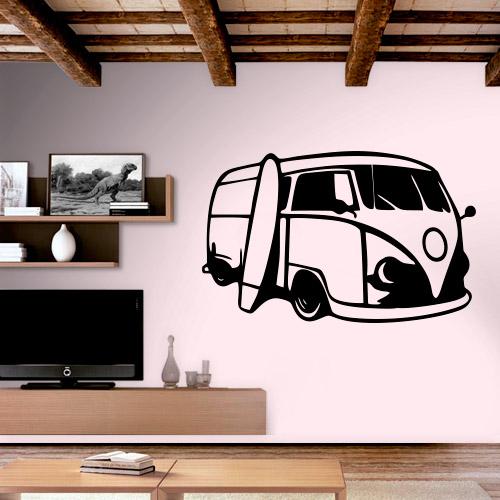 Armario Joyero Pared Ikea ~ Adesivo de Parede Perua Kombi modelo 5 Fran Adesivos