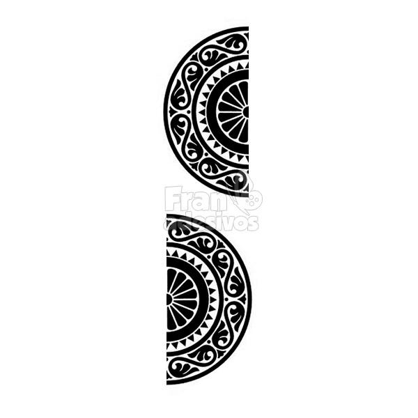 Como Fazer Artesanato Reciclagem De Garrafa Pet ~ Adesivo de Parede Mandala Adesivo de Parede Mandala