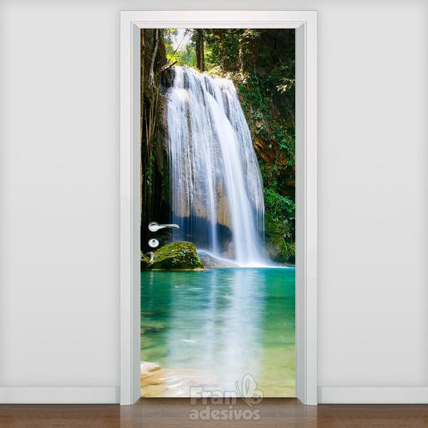 Adesivo para porta paisagem adesivo para porta paisagem for Adesivos p porta de vidro