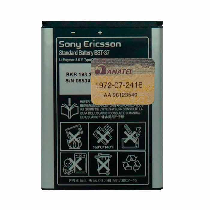 Bateria Original de Sony Ericsson BST - 37
