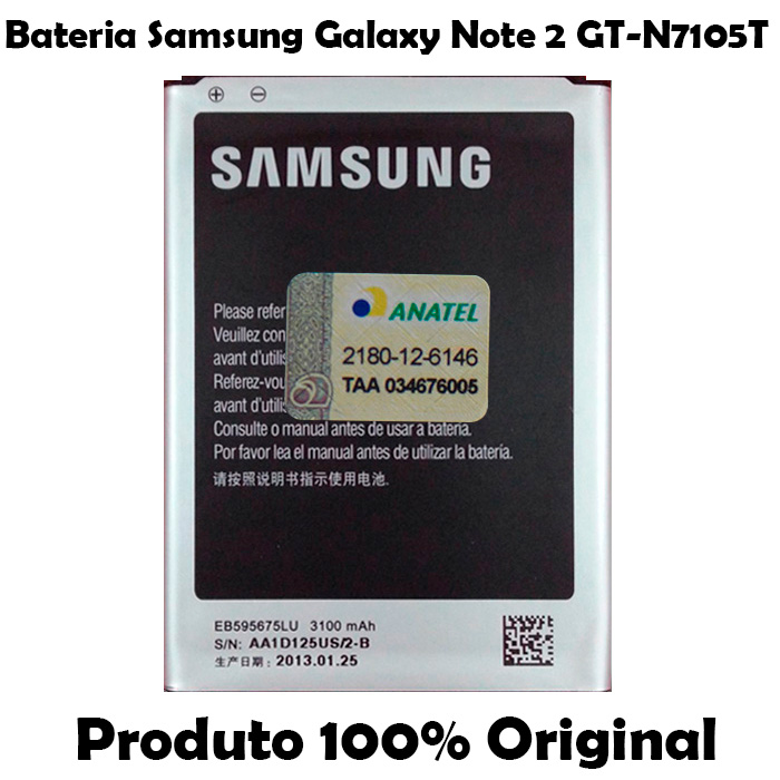 Bateria Samsung Galaxy Note 2 GT - N7105T