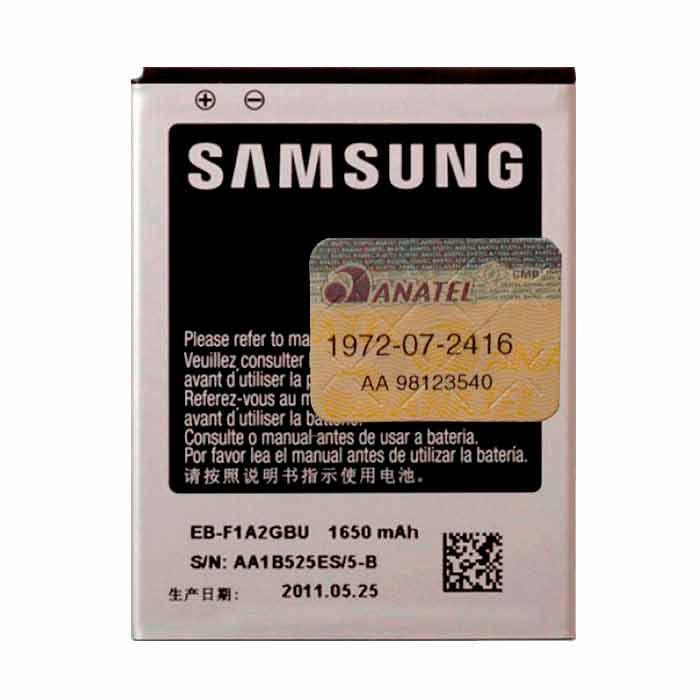 Bateria Samsung S2 Original EB - F1A2GBU - GT - i9100 Original